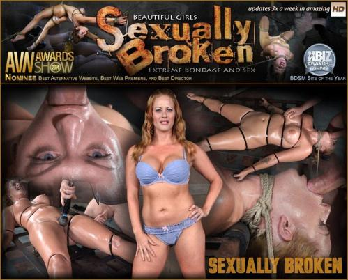 SexuallyBroken.com [Holly Heart Strapped to Bed Frame in Vicious Bondage and Brutally Face Fucked!] HD, 720p