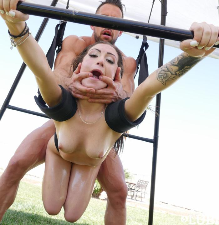 Lubed: Lily Jordan - Sex Swing Facial  [HD 674p]