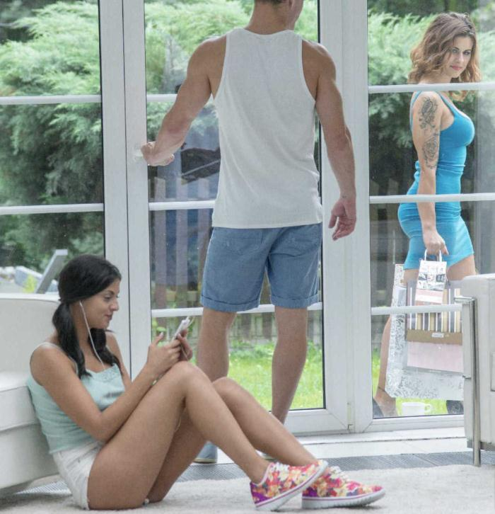Babes: Billie Star, Coco de Mal - Peeping Tom  [HD 720p]  (Threesome)