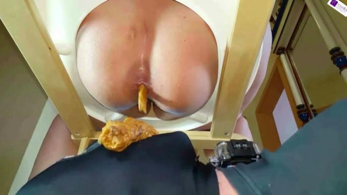 Best of toilet chair shit! Part 2 - Femdom Scat (Scat Porn) FullHD 1080p