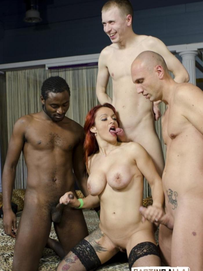 Luna Oara, Mary Rider, Luna Dark - Wild interracial Italian orgy with beautiful European babes PT 2  [HD 720p]