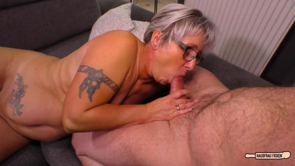 HausfrauFicken - Brigitte T - Tattooed chunky German granny sucks and fucks her badass husband [SD, 480p]