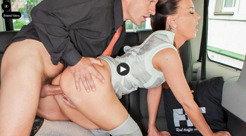Vinna Reed - Brunette Czech babe sucks and fucks in the backseat of the car [SD] (432 MB)