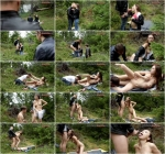 Mistress Margaret - Threesome Outdoors (Subm1ss1v3Cuck0lds) HD 720p