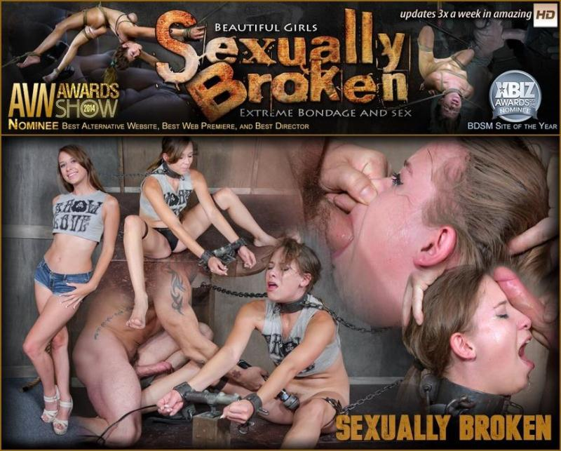 SexuallyBroken.com: Zoey Laine is chained and shackled down. Brutal face fucking and orgasms! Helpless and breathless! [HD] (567 MB)