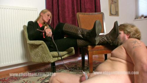 ElegantFemdom [Demona - Boot licking with cbt] FullHD, 1080p
