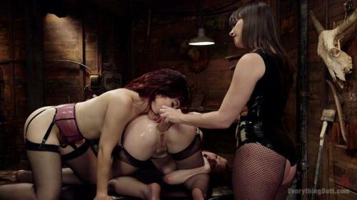 EverythingButt.com [Anal competitors - Dana Dearmond, Ella Nova And Ingrid Mouth] HD, 720p