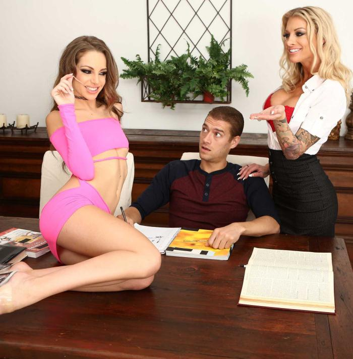 MomsInControl/Brazzers: Kimmy Granger, Synthia Fixx - Homeschool Sex Ed  [HD 720p]  (Threesome)