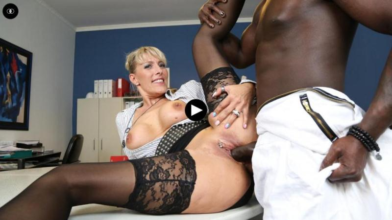 F3m4l3W0rsh1p.com: Lana Vegas - Naughty German MILF secretary gets pleased in steamy interracial fuck [SD] (500 MB)