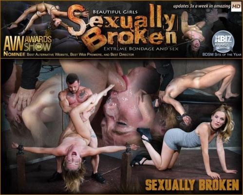 SexuallyBroken.com [Hot Domme Mona Wales, is bound down and brutally dicked down, rough face fucking and O\'s] HD, 720p
