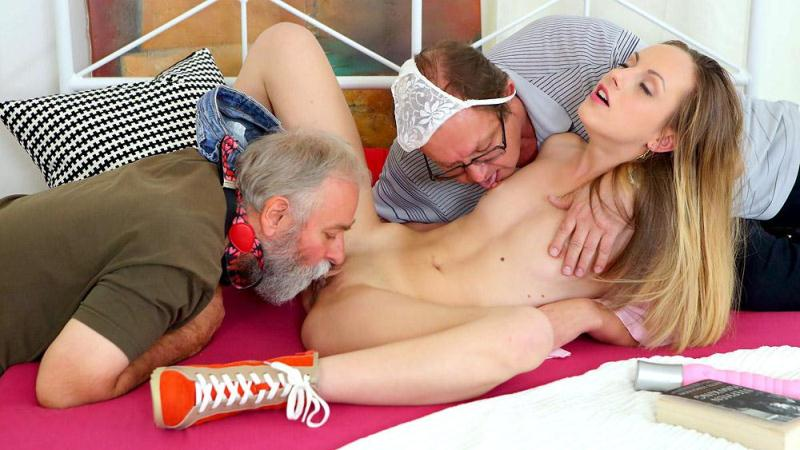 OldGoesYoung.com: Natalia Pearl - Natalia Pearl fucked by her grandfather's friends [SD] (332 MB)