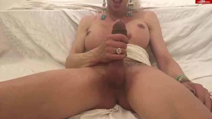 German Porn - TSXXL-ANGEL23X6 - Live vorm Cam abgespritzt (Shemale) [HD, 720p]