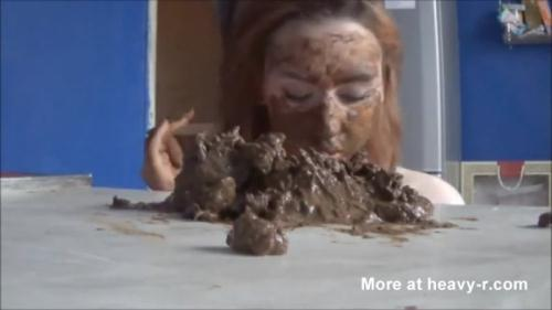 Scat [Big Stinky Pile on my Face - Solo] FullHD, 1080p
