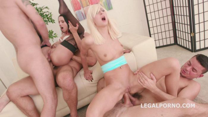 LegalPorno.com - Double Addicted with Anal Fisting. July Sun & Lola Shine DAP challenge. Ball Deep Anal, Atm GIO252 (Group sex) [SD, 480p]