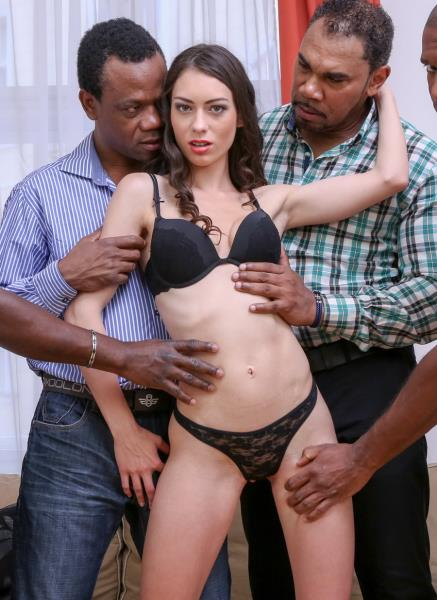 LegalPorno: Arwen Gold - Facing 4 Huge Black Dicks. Mega Interracial Gangbang IV005 (SD/2016)