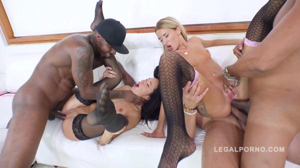 LegalPorno - Katrin Tequila & Kerry Cherry 3on2 interracial orgy with DP, DAP & ATM RS267 [SD, 480p]