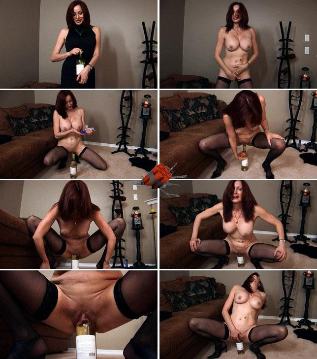Stacey - Milf Stacey fucks herself big bottle [HD 720p]