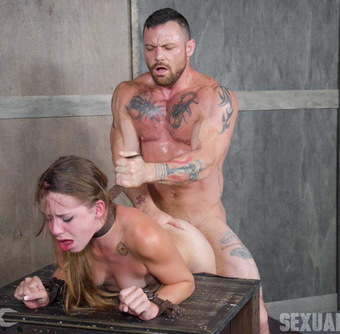 SexuallyBroken: Zoey Laine - To cute for porn Zoey Lane is destroyed by massive hard pounding cock in bondage.  [HD 720p]  (BDSM)