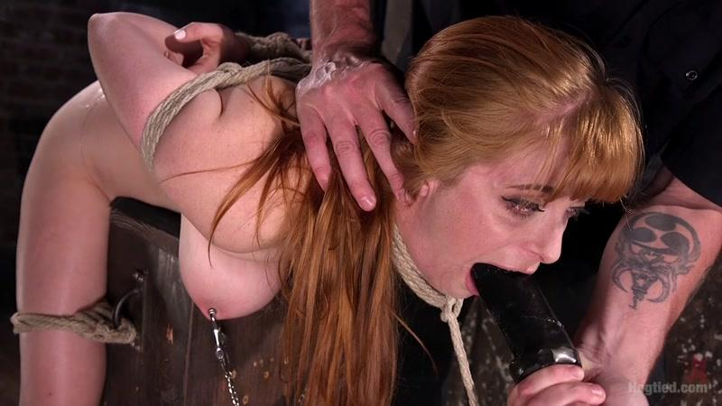 Penny Pax (Red Headed Rope Slut is Violated and Tormented / 29.09.2016) [HogTied / HD]