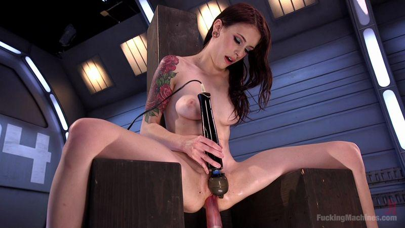 Anna De Ville - Masturbated Ass with Dildo and Fuck Machine! [FuckingMachines / HD]