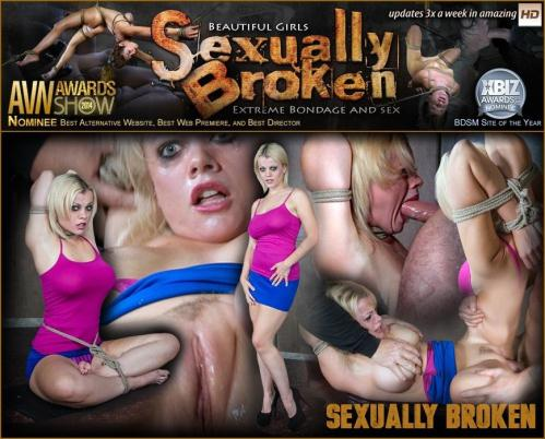 SexuallyBroken.com [Nadia White is rope bound and completely used by huge dick, helpless, throat fucked and made to cum!] HD, 720p