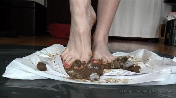 Scat - Pooping for Foot Fetish Scat slave (Extreme) [FullHD, 1080p]