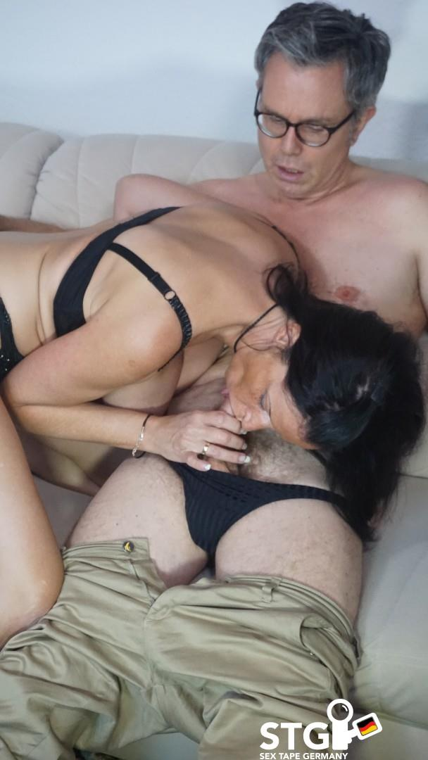 Dacada - Brunette silicone-titted German mature slut sucks a dick before riding it [HD 720p] Porndoepremium.com