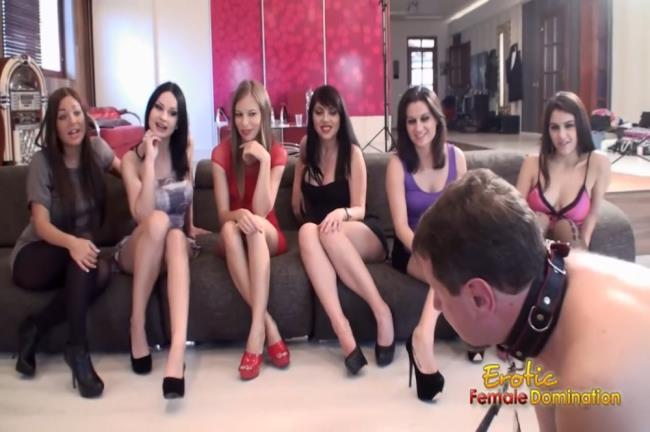 Eroticfemaledomination: Abbie Cat, Angelica Heart, Valentina Nappi, Madlin Moon, Debbie White - Team Of Perfect Dominatrices Humiliate You (HD/2016)