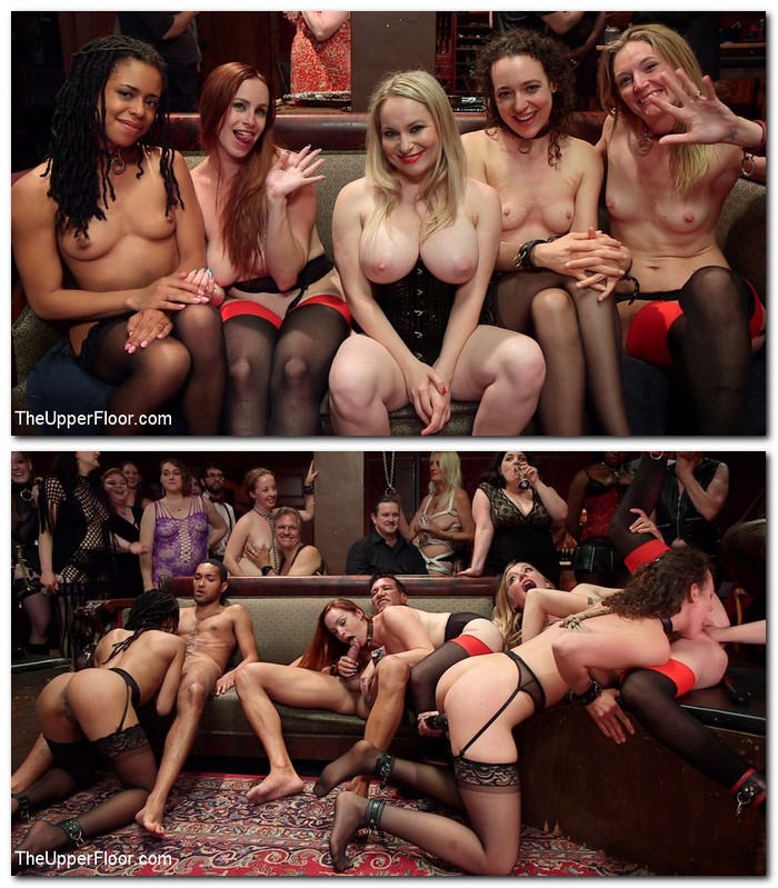 Kira Noir, Lilith Luxe, Mona Wales, Bella Rossi, Aiden Starr - SlaveOrgy Unchained  [SD 540p]