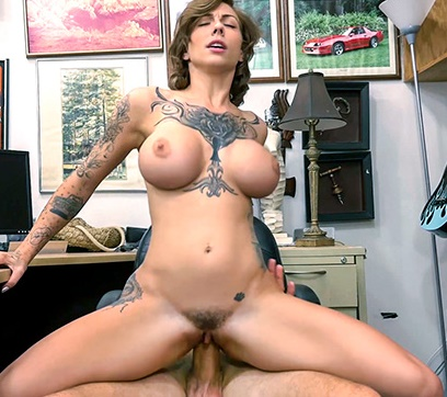 XXXPawn: Harlow Harrison - Tattooed Harlow gets needled and inked  [SD 480p]  (Big Tit)