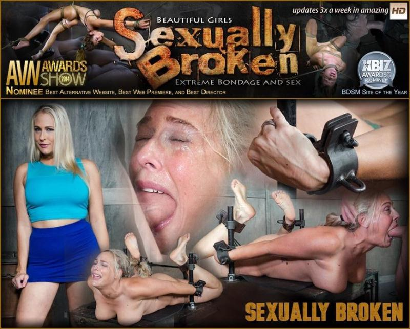 SexuallyBroken.com: Big titted Blond MILF is H0gT13d and face fucked into oblivian. Tight bondage, deep throat, Orgasms! [HD] (444 MB)