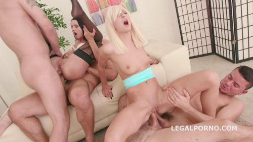 LegalPorno.com [Double Addicted with Anal Fisting. July Sun & Lola Shine DAP challenge. Ball Deep Anal, Atm GIO252] SD, 480p