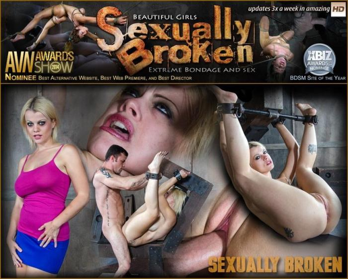 SexuallyBroken.com - Nadia White is metal bound while brutally fucked. Several massive orgasms get ripped out of our slut! (BDSM) [HD, 720p]