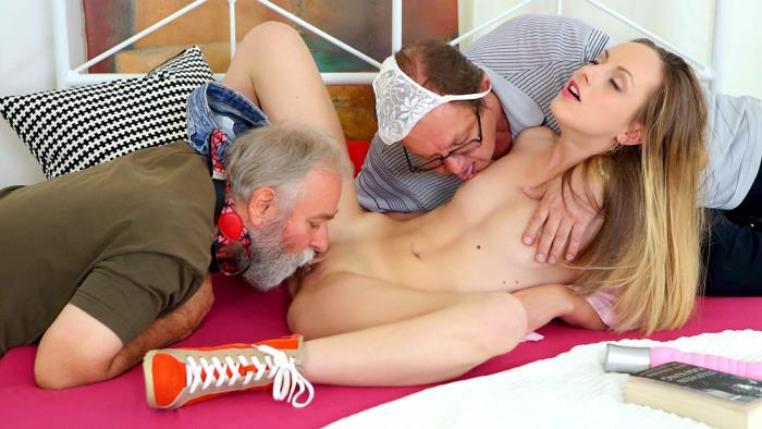 OldGoesYoung.com - Natalia Pearl - Natalia Pearl fucked by her grandfather's friends [4K UHD 2160p]