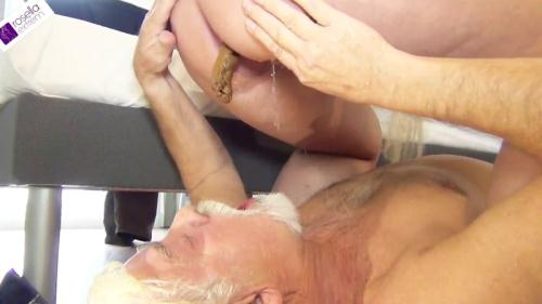 Scat [Fat shit sausage shitting in the Senior Slave mouth! Part 1 - Femdom] FullHD, 1080p
