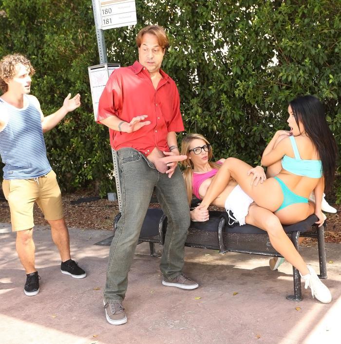 WeLiveTogether/RealityKings: Megan Rain - Bus Stop Lust  [HD 720p]  (Lesbians)