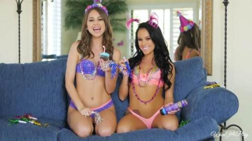WhenGirlsPlay.com [Megan Rain, Riley Reid - Happy Birthday Tw1stys!] SD, 480p