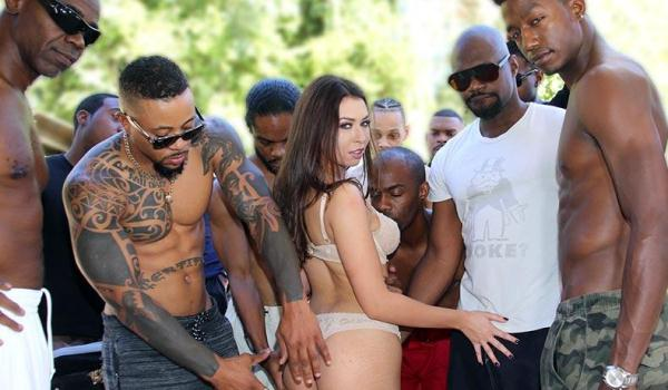 InterracialBlowbang - Melissa Moore - Interracial Sex [SD, 432p]