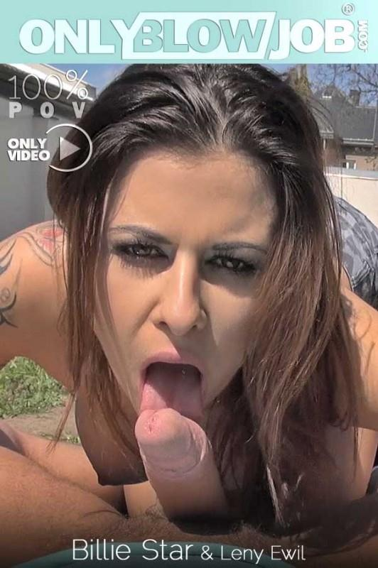 0nlyBl0wj0b.com - Billie Star - Salacious Outdoor Blowjob - Stunning Babe Sucks Cock In Garden (Teen, Blowjob) [SD, 540p]