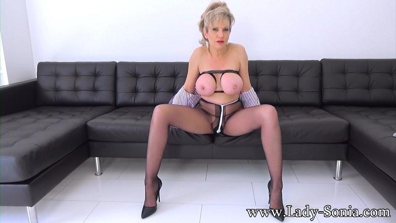 Lady-Sonia.com: Lady Sonia - Tightly Taped Tits And Crotch Rope In Pantyhose [FullHD] (894 MB)