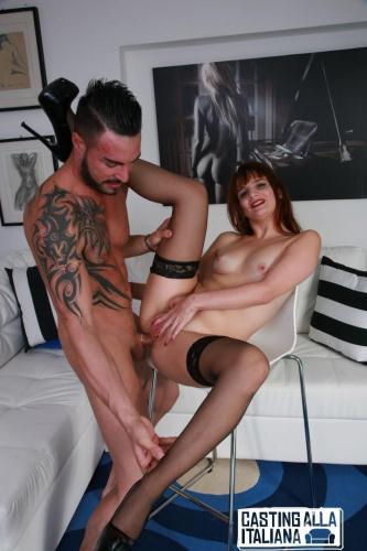 CastingAllaItaliana.com [Tila Bordeaux - Brunette Italian Newbie Fucked In The Ass, Sucks Dick And Gets Cum In Mouth] SD, 480p