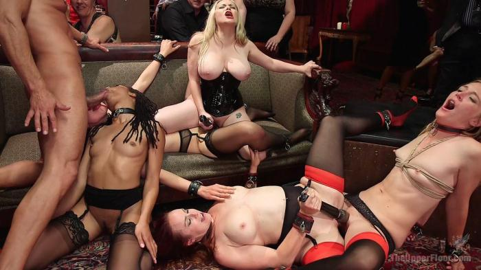Slave Orgy Unchained (Th3Upp3rFl00r, Kink) HD 720p