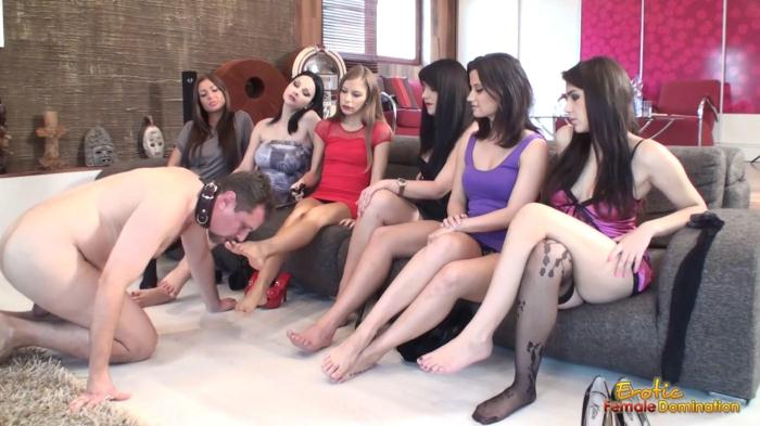 Eroticfemaledomination.com - Sub Male Licks Loads Of Shoes And Toes (Femdom, Foot Fetish) [FullHD, 1080p]