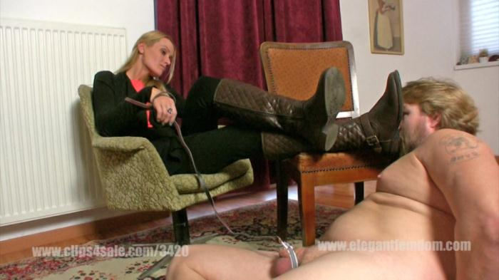 Demona - Boot licking with cbt (ElegantFemdom) FullHD 1080p