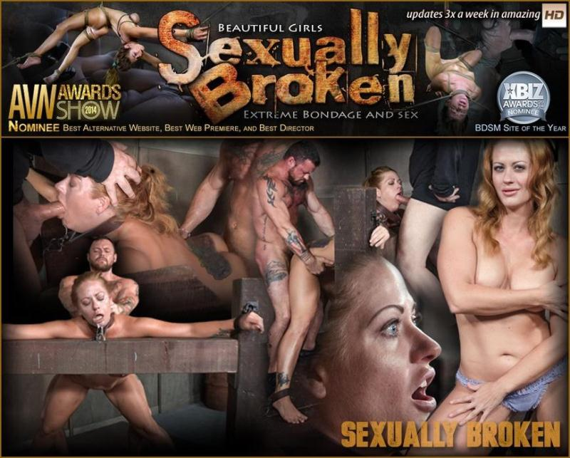 Hot Blonde with big tits is dicked down and face fucked into oblivion. Extreme rough sex! / October 5, 2016 / Holly Heart, Matt Williams, Sergeant Miles [SexuallyBroken / SD]