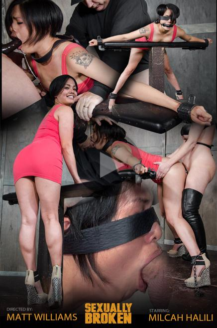 Sexy Asian Milcah Halili is bound and brutally face fucked, fucked from both ends, squirting orgasm! Part 1 - SexuallyBroken.com (HD, 720p) [BDSM, Humiliation, Bondage, Deep Throat, Face Fucking, Squirting]