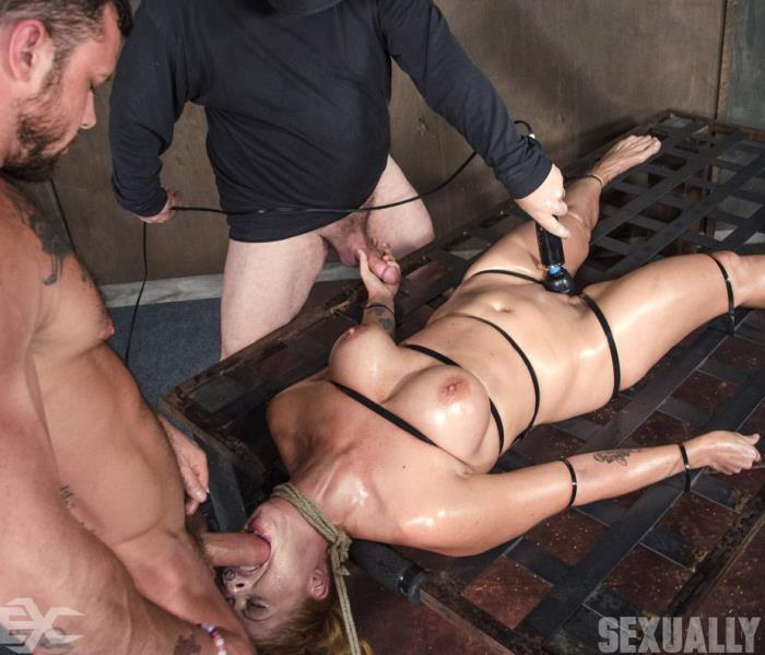 SexuallyBroken: Holly Heart - Holly Heart Strapped to Bed Frame in Vicious Bondage and Brutally Face Fucked!  [HD 720p]  (BDSM)