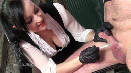 Cock Torture - Ashtray For Her Pleasure [HD, 720p] [Sado-ladies.com] - Smoking, Femdom
