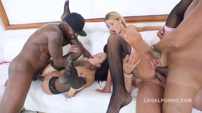 LegalPorno.com - Katrin Tequila & Kerry Cherry 3on2 interracial orgy with DP, DAP & ATM RS267 (Group sex) [HD, 720p]