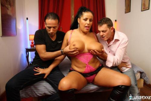 LaCochonne.com [Tatyana - Two Studs Fuck Busty And Curvy Brunette For Amateur French Porn Tape] SD, 480p